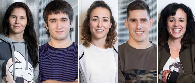 Paloma Fernández, David Lumbreras, Nahia Valencia, Jon Zabaleta (Beko) y Ester Gallardo son los cinco navarros participantes en 'El Conquis' 2021.