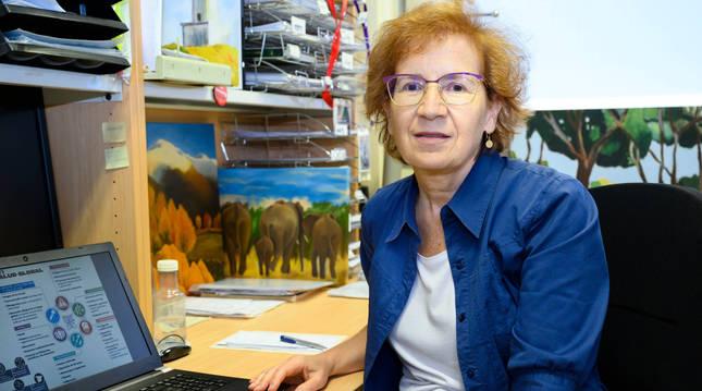 La viróloa Margartia del Val, en su despacho del Centro Superior de Investigaciones Científicas.
