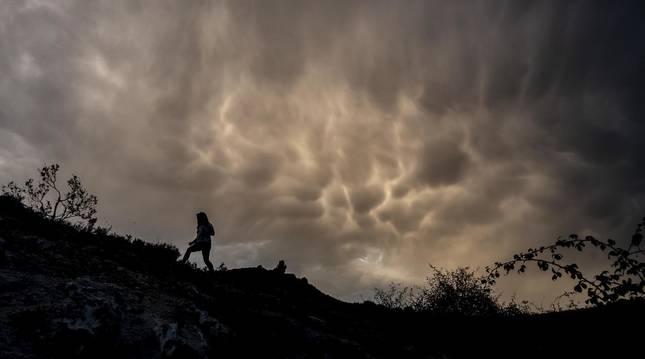 Una estampa nubosa tomada en Ayegui.