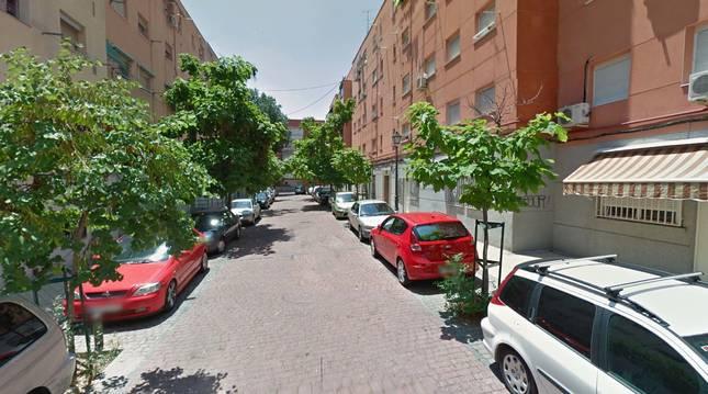 Calle Benadalid, en Vallecas (Madrid).