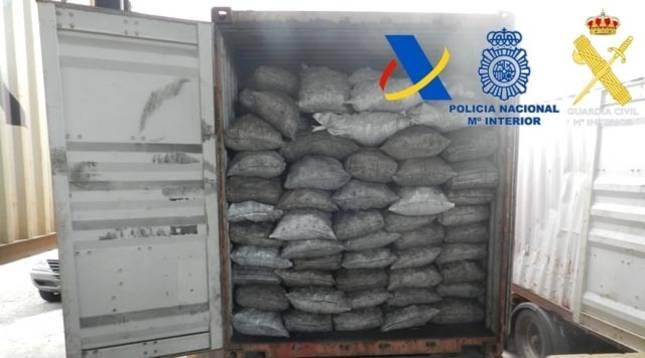 Cocaína intervenida en una operación conjunta de la Policía Nacional, Guardia Civil y Agencia Tributaria.