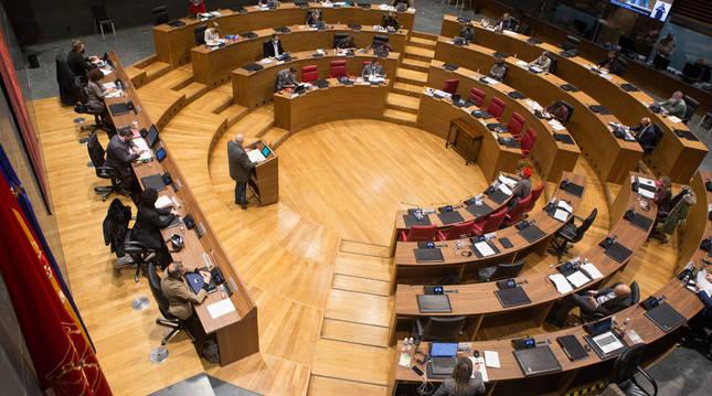 Foto de una sesión del Parlamento de Navarra.