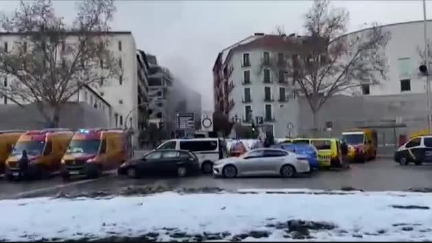 Explosión en un edificio del centro de Madrid