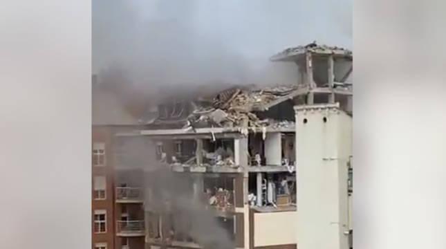 Estado en el que ha quedado el edificio afectado por la explosión.