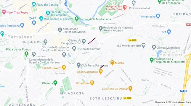 Alteraciones del tráfico en Pamplona para este miércoles, 20 de enero.