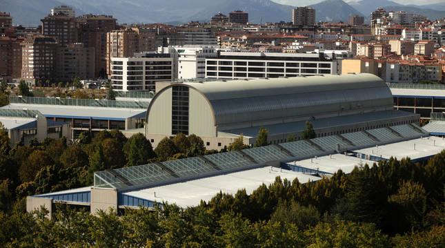 Vista del campus de la UPNA (Pamplona).