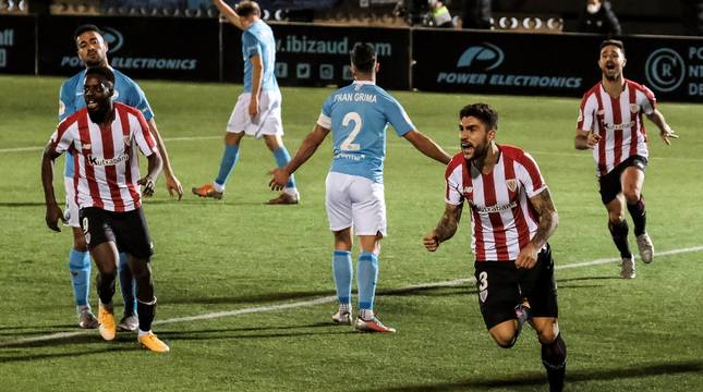 Unai Núñez celebra el 1-2.