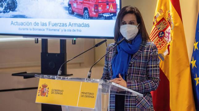 Foto de la ministra de Defensa Margarita Robles.