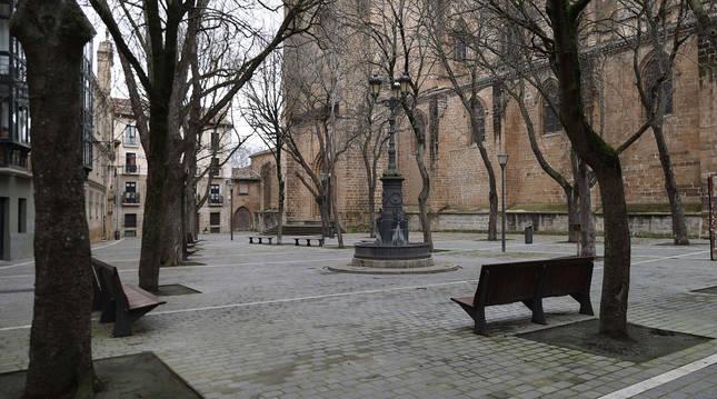 La plazuela de San José es el espacio donde hosteleros de Navarrería han solicitado instalar una carpa.