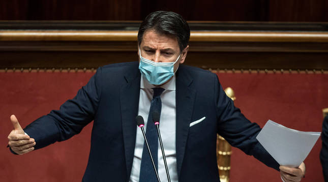 El primer ministro Giuseppe Conte dimitirá este martes por falta de apoyos