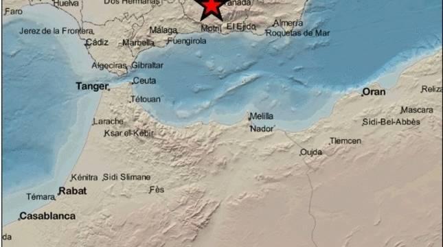 Imagen del mapa del Instituto Geográfico Nacional (IGN), con epicentro en Santa Fe.