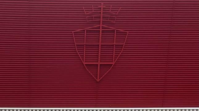 La estructura del nuevo escudo de El Sadar