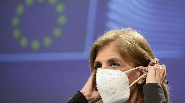 La comisionada de salud de la Unión Europea Stella Kyriakides.