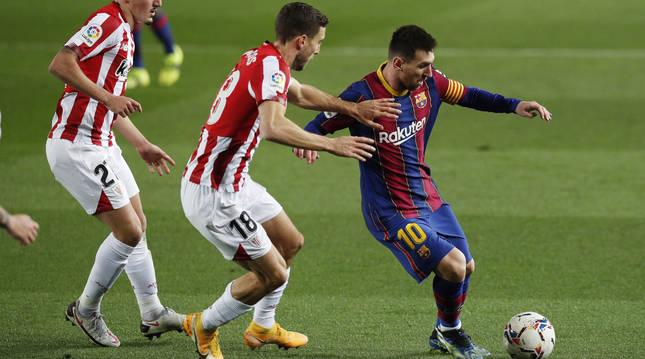 Foto del partido entre el Barcelona y el Athletic (2-1).