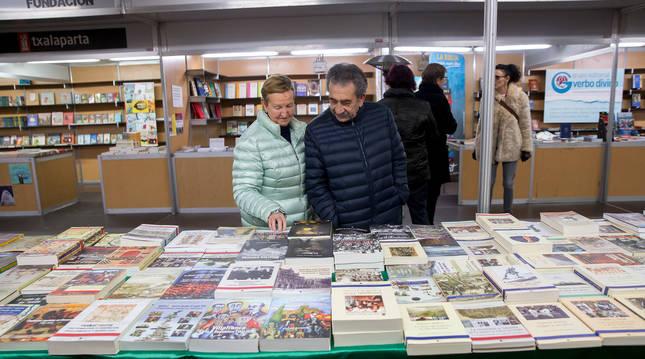Foto de la III Feria de la edición del libro, disco y otros soportes celebrada en Pamplona en 2019.