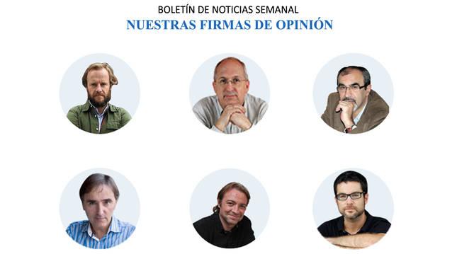 Foto de autores de artículos de opinión de Diario de Navarra.