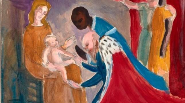 Una de las obras de Isabel Baquedano.