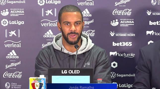 Jonás Ramalho durante la rueda de prensa telemática de su presentación.