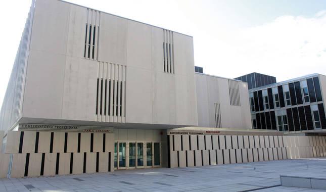 Exterior del Conservatorio Pablo Sarasate (Pamplona).