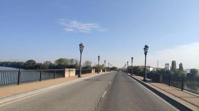 Estado del firme del puente.