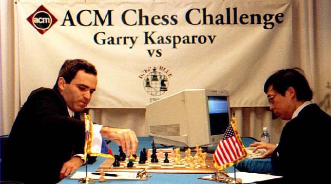 Garry Kaspárov durante la partida contra Deep Blue.