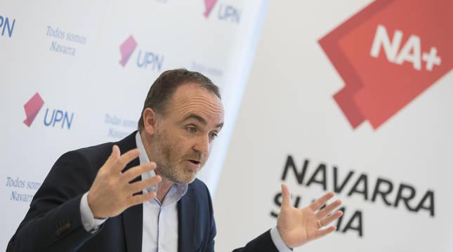Foto de Javier Esparza, en una rueda de prensa anterior.