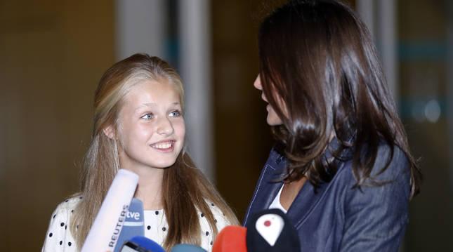 La Reina Letizia y la Princesa Leonor afirman que el Rey Don Juan Carlos se encuentra animado tras su intervención quirúrgica a 30 de agosto de 2019.