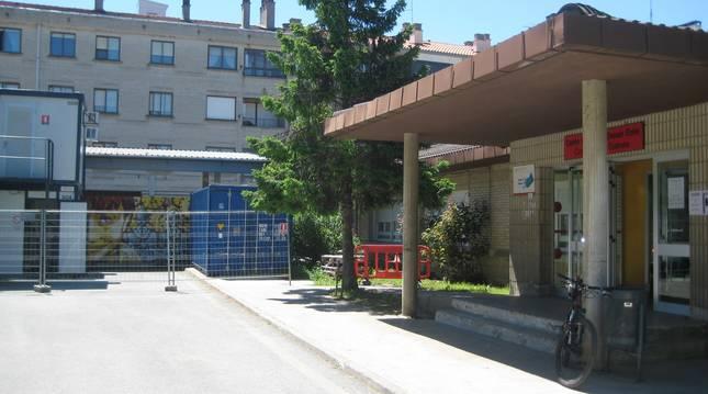 En una instantánea de archivo, el Centro de Salud de Alsasua en obras.