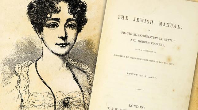 Lady Judith Montefiore y portada de su recetario. R. C.