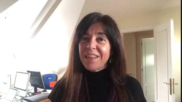 Marta Borruel, este jueves en el Club de Lectura de Diario de Navarra