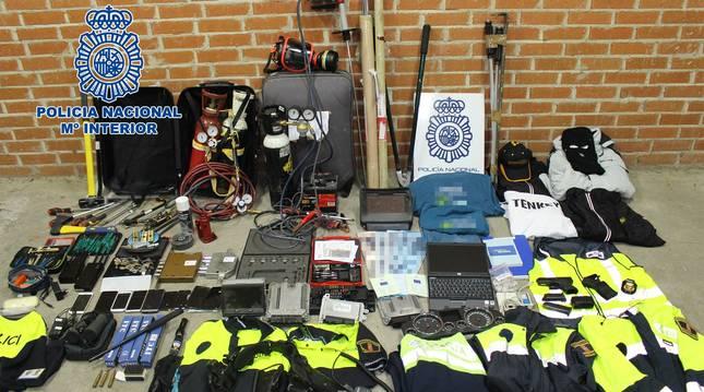 Descarticulado un grupo criminal itinerante especializado en robos con fuerza en oficinas y empresas.