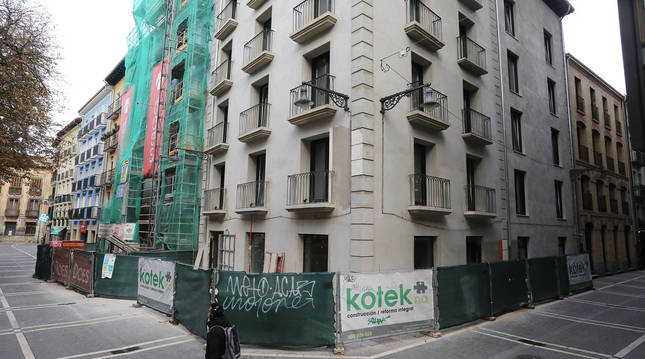 Rehabilitación de viviendas en la calle Ciudadela en una imagen de noviembre de 2020.