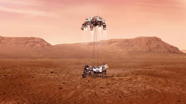 Unas temperaturas gélidas aguardan la llegada del Perseverance a Marte