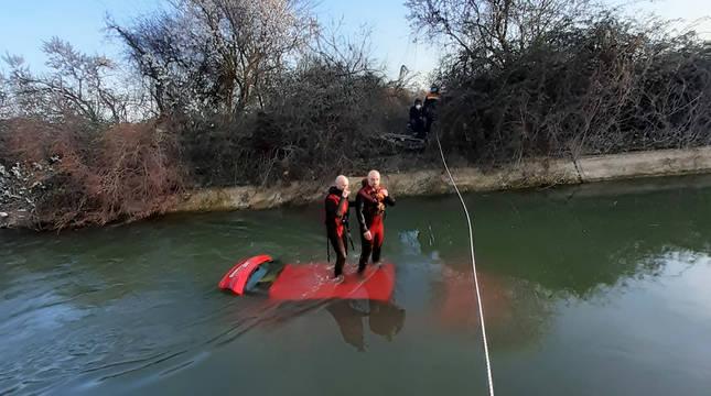 Fotos del accidente mortal en el Canal de Lodosa