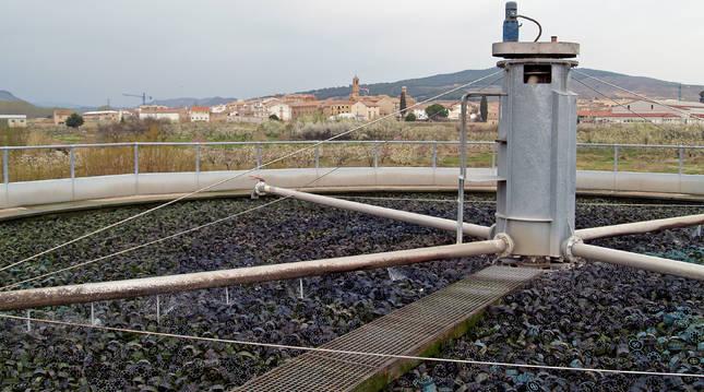 Imagen de Fitero, al fondo, desde la depuradora de la localidad que ahora se va a ampliar.