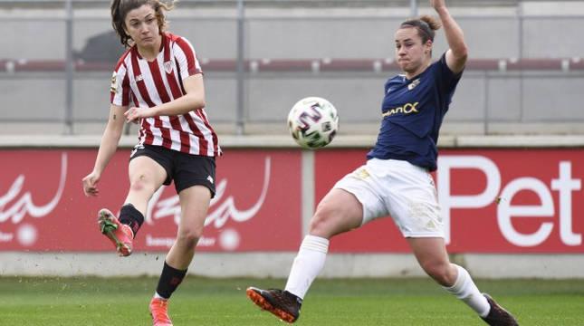 Imagen del Athletic B y Osasuna Femenino.