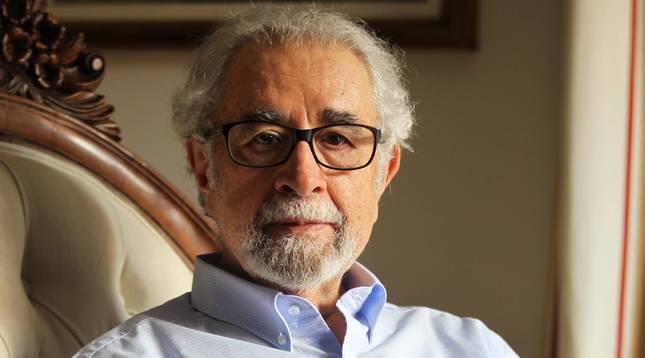 Juan Antonio Ortega Díaz-Ambrona, en su domicilio de Madrid.