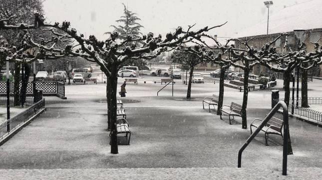 La nieve regresa a Navarra
