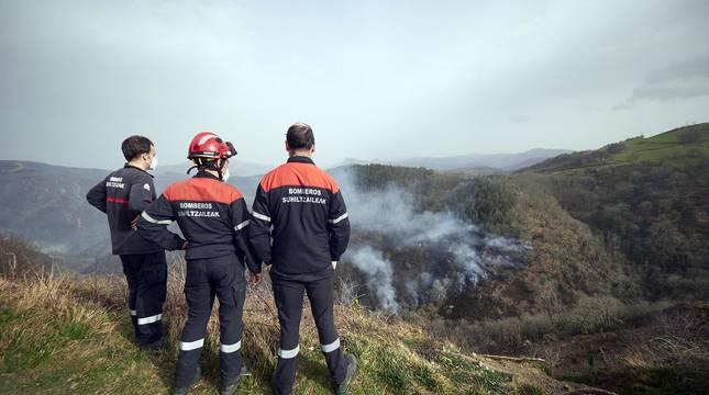 Fotos del incendio de Bera