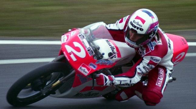 Fausto Gresini, en el Gran Premio de Japón de 1992.