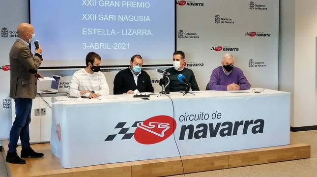 Presentación del recorrido del Gran Premio Miguel Indurain, este martes.