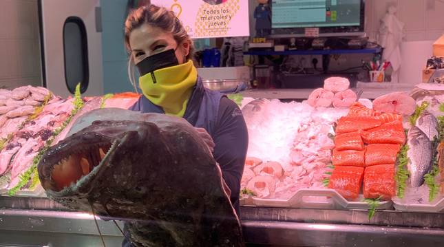 Un rape de 20 kilos, en la pescadería La Kontxa
