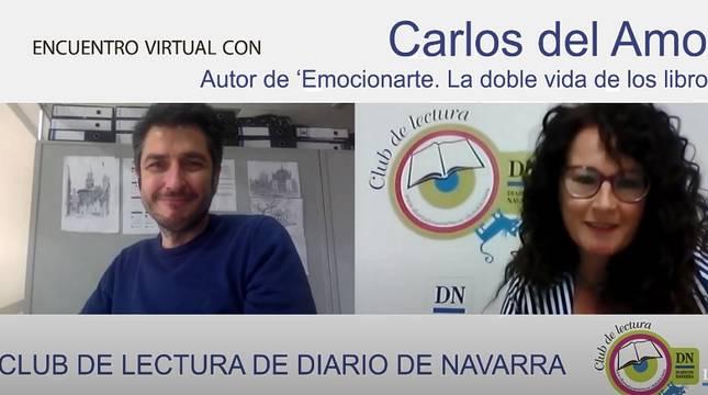 Sigue el encuentro del Club de Lectura de Diario de Navarra con Carlos del Amor