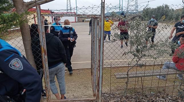 Denunciadas 8 personas en un huerto de recreo en Tudela 8 personas por incumplir las medidas contra el covid.