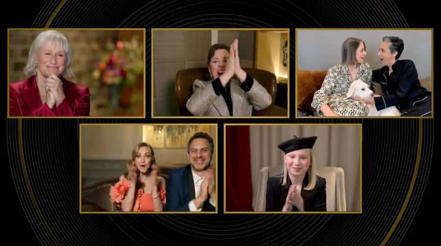 Nominadas a mejora actriz secundaria, en la entrega virtual de los Globos de Oro.