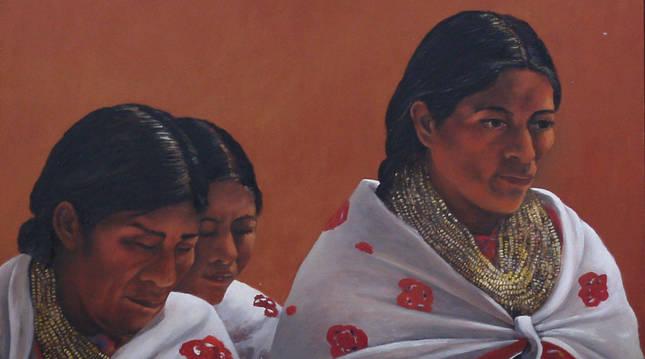 Foto de la obra Mujeres aztecas.