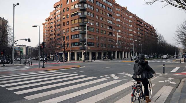 Foto entre la avenida de Pío XII y Monasterio de Urdax.