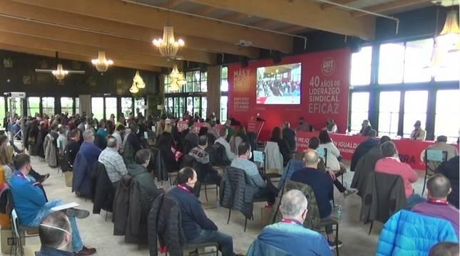 Participantes en el 12º Congreso de UGT Navarra.