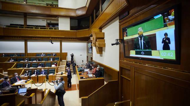 Vista del Parlamento Vasco.