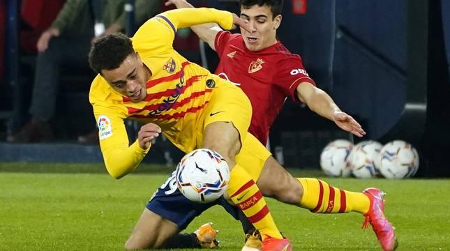 Imágenes del partido entre Osasuna y Barcelona disputado en El Sadar.